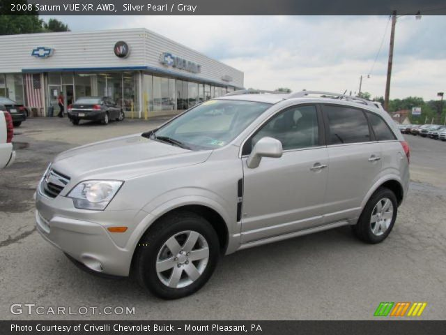 silver pearl 2008 saturn vue xr awd gray interior vehicle archive 49695321. Black Bedroom Furniture Sets. Home Design Ideas