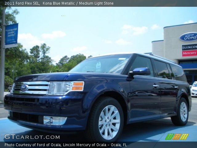 kona blue metallic 2011 ford flex sel medium light. Black Bedroom Furniture Sets. Home Design Ideas