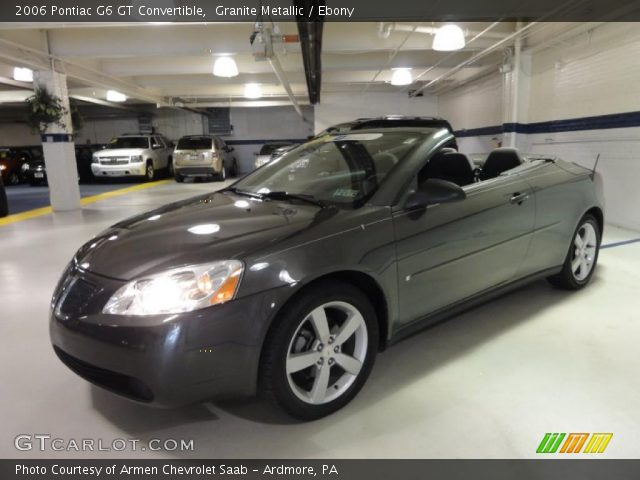 granite metallic 2006 pontiac g6 gt convertible ebony. Black Bedroom Furniture Sets. Home Design Ideas