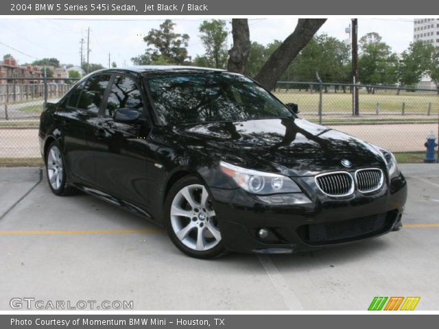 jet black 2004 bmw 5 series 545i sedan black interior. Black Bedroom Furniture Sets. Home Design Ideas