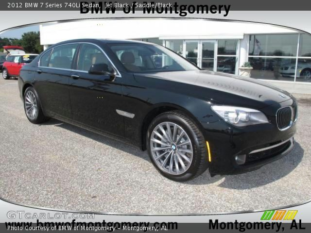 jet black 2012 bmw 7 series 740li sedan saddle black. Black Bedroom Furniture Sets. Home Design Ideas