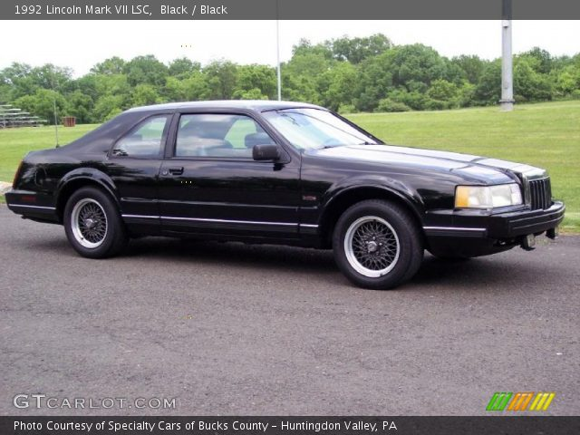 1992 Lincoln Mark VII LSC in Black