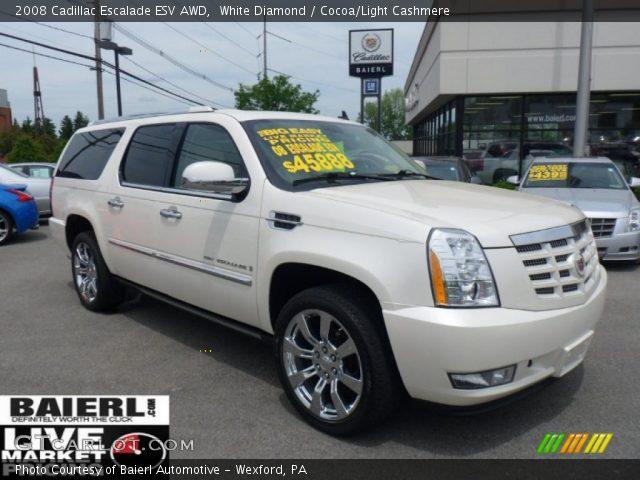 White Diamond - 2008 Cadillac Escalade Esv Awd