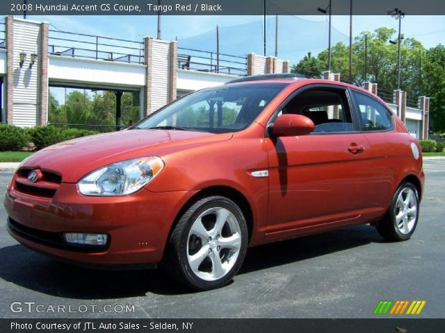 2008 Hyundai Accent GS Coupe in Tango Red