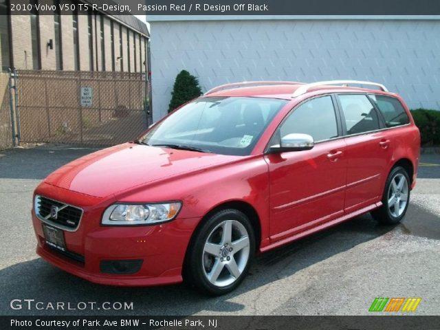 passion red 2010 volvo v50 t5 r design r design off black interior vehicle. Black Bedroom Furniture Sets. Home Design Ideas