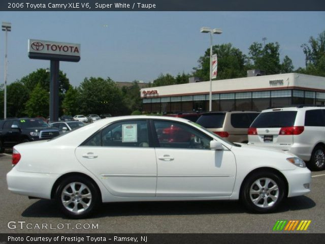 super white 2006 toyota camry xle v6 taupe interior vehi. Black Bedroom Furniture Sets. Home Design Ideas