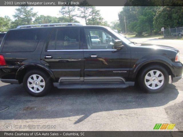 Black 2003 Lincoln Navigator Luxury Black Interior Vehicle Archive 49799536