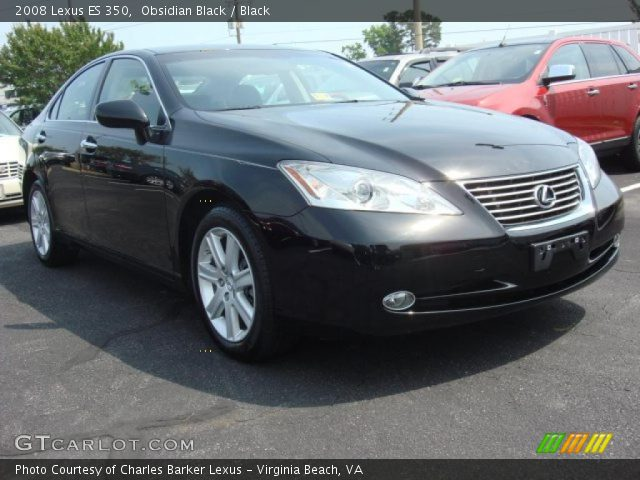 obsidian black 2008 lexus es 350 black interior. Black Bedroom Furniture Sets. Home Design Ideas