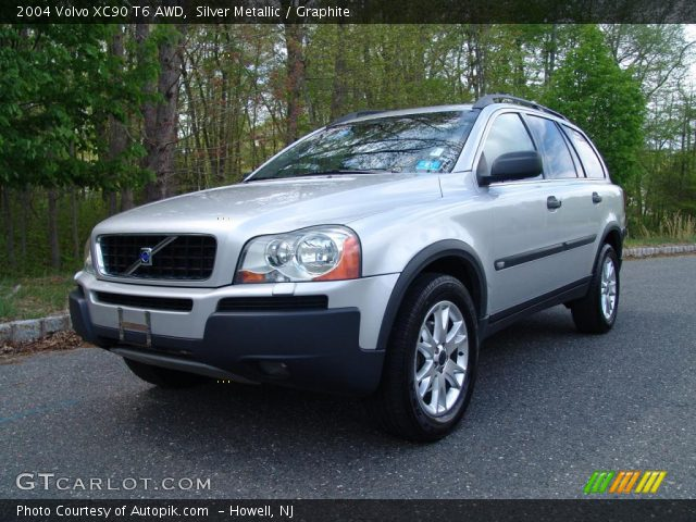 silver metallic 2004 volvo xc90 t6 awd graphite interior vehicle archive. Black Bedroom Furniture Sets. Home Design Ideas