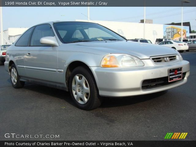vogue silver metallic 1998 honda civic ex coupe gray interior vehicle. Black Bedroom Furniture Sets. Home Design Ideas