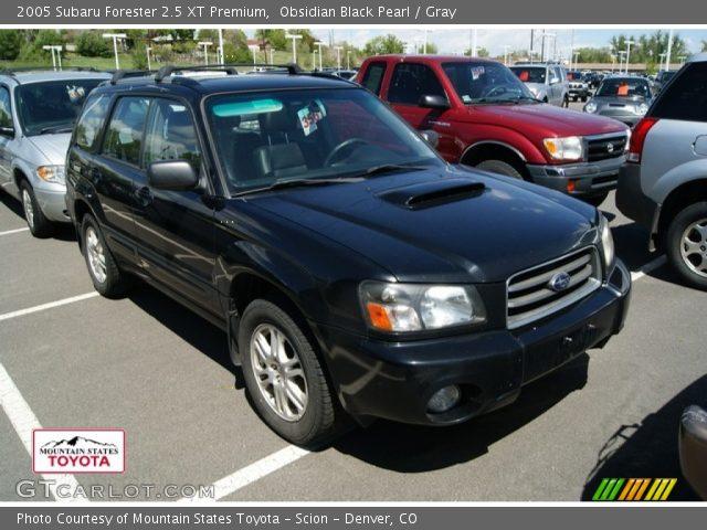 Obsidian Black Pearl 2005 Subaru Forester 2 5 Xt Premium Gray Interior