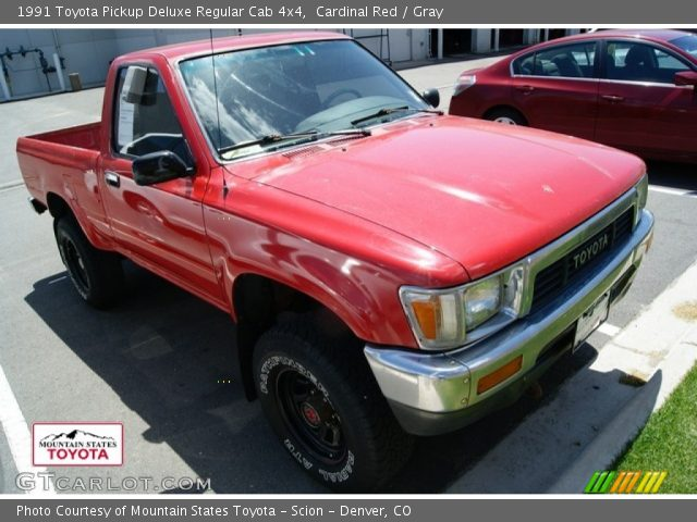 1991 Toyota Pickup Deluxe Regular Cab 4x4 in Cardinal Red