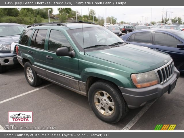 everglade green pearl 1999 jeep grand cherokee laredo 4x4 taupe interior. Black Bedroom Furniture Sets. Home Design Ideas