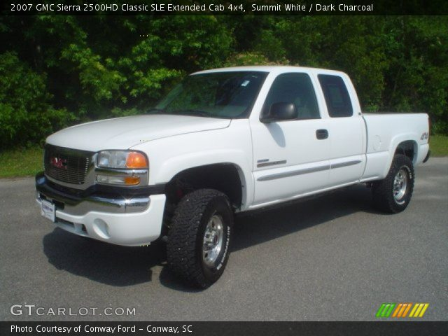 summit white 2007 gmc sierra 2500hd classic sle extended. Black Bedroom Furniture Sets. Home Design Ideas