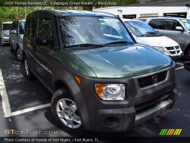 Galapagos green metallic 2005 honda element lx black for Green honda element