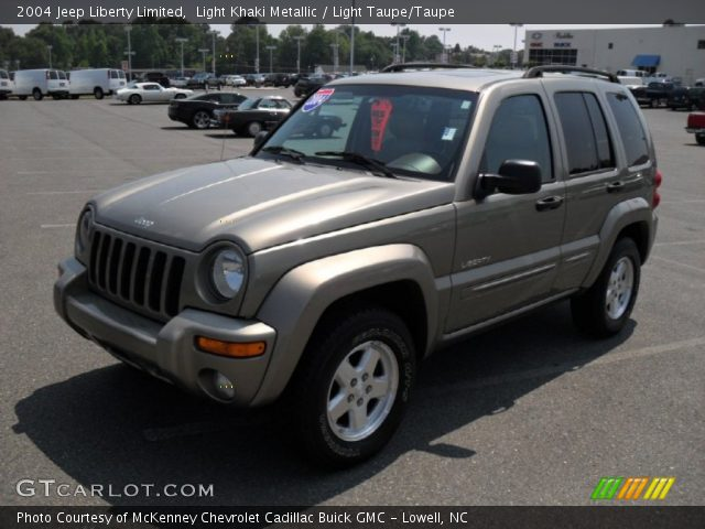light khaki metallic 2004 jeep liberty limited light