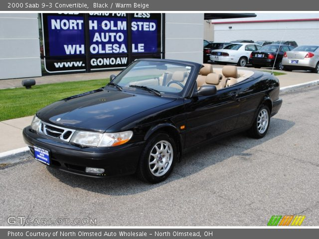 black 2000 saab 9 3 convertible warm beige interior vehicle archive 49991860. Black Bedroom Furniture Sets. Home Design Ideas