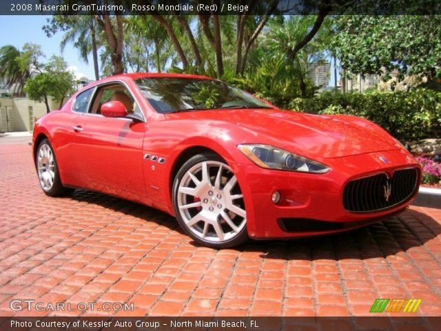 Rosso mondiale red 2008 maserati granturismo beige - Maserati granturismo red interior ...