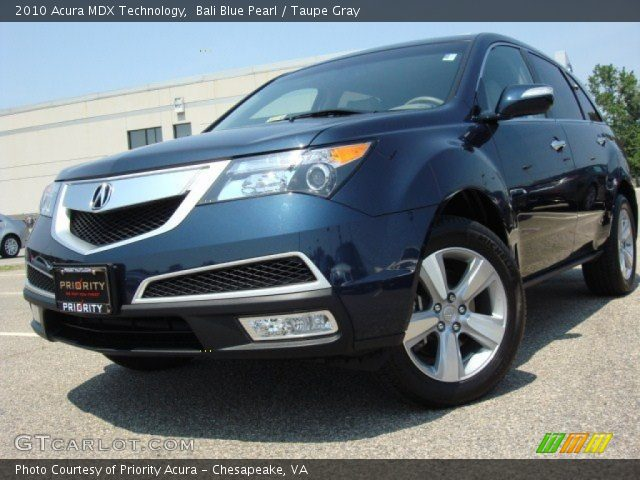 Bali Blue Pearl 2010 Acura Mdx Technology Taupe Gray Interior Vehicle