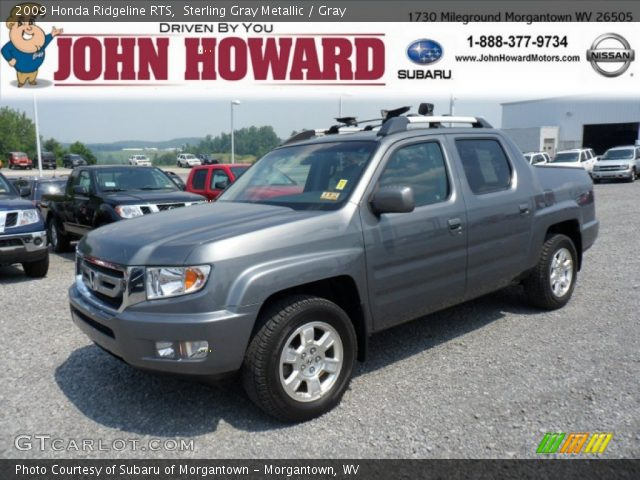 sterling gray metallic 2009 honda ridgeline rts gray. Black Bedroom Furniture Sets. Home Design Ideas