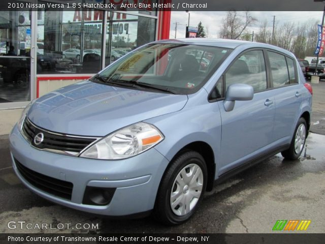 arctic blue metallic 2010 nissan versa 1 8 s hatchback. Black Bedroom Furniture Sets. Home Design Ideas