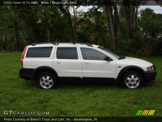 White - 2003 Volvo XC70 AWD - Beige/Light Sand Interior | GTCarLot.com ...