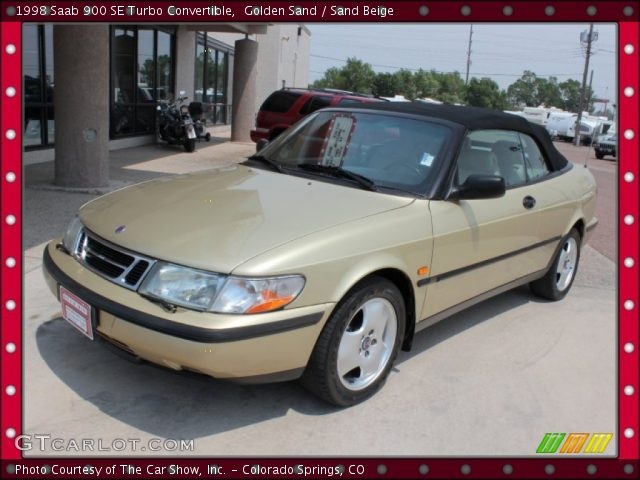 golden sand 1998 saab 900 se turbo convertible sand. Black Bedroom Furniture Sets. Home Design Ideas