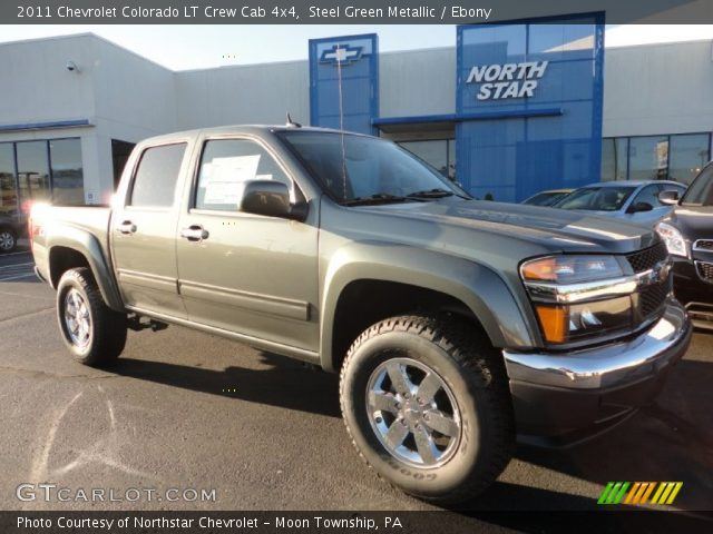 steel green metallic 2011 chevrolet colorado lt crew cab. Black Bedroom Furniture Sets. Home Design Ideas