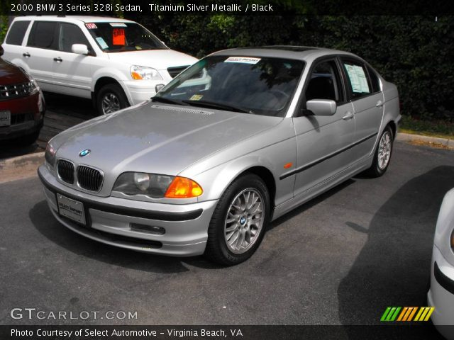 titanium silver metallic 2000 bmw 3 series 328i sedan black interior. Black Bedroom Furniture Sets. Home Design Ideas