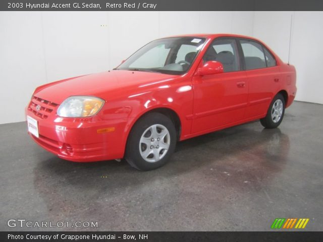 2003 Hyundai Accent GL Sedan in Retro Red