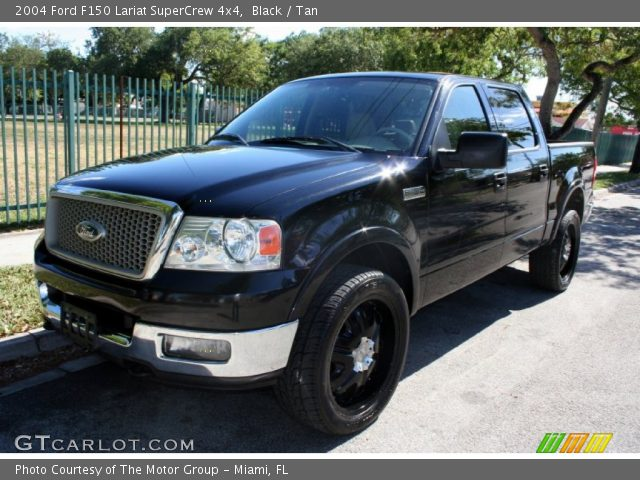 black 2004 ford f150 lariat supercrew 4x4 tan interior. Black Bedroom Furniture Sets. Home Design Ideas