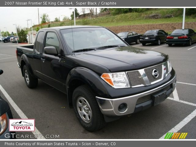 super black 2007 nissan frontier se king cab 4x4 graphite interior vehicle. Black Bedroom Furniture Sets. Home Design Ideas