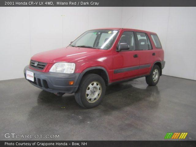 milano red 2001 honda cr v lx 4wd dark gray interior vehicle archive 50151043. Black Bedroom Furniture Sets. Home Design Ideas