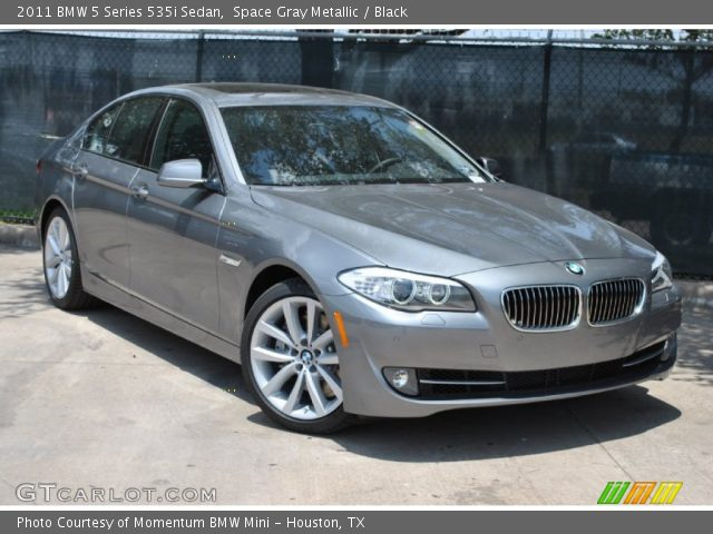 space gray metallic 2011 bmw 5 series 535i sedan black interior vehicle. Black Bedroom Furniture Sets. Home Design Ideas