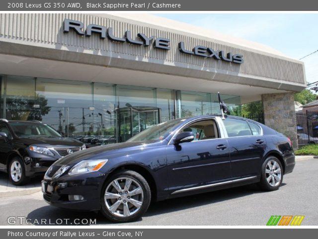 black sapphire pearl 2008 lexus gs 350 awd cashmere interior vehicle. Black Bedroom Furniture Sets. Home Design Ideas