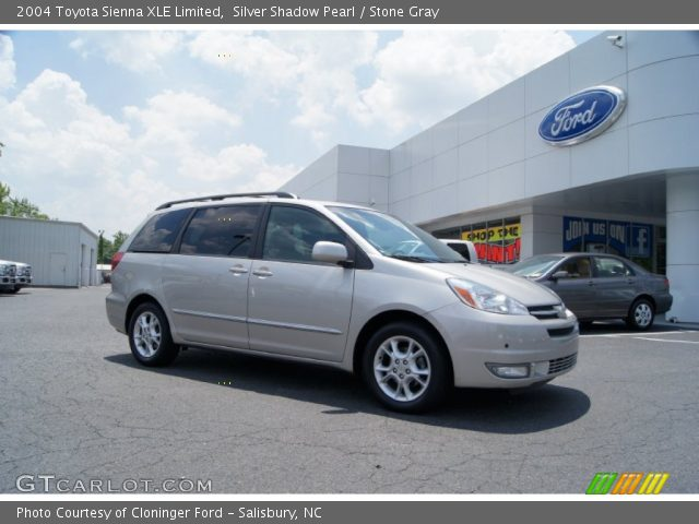 silver shadow pearl 2004 toyota sienna xle limited stone gray interior. Black Bedroom Furniture Sets. Home Design Ideas
