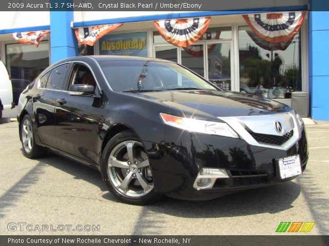 crystal black pearl 2009 acura tl 3 7 sh awd umber ebony interior vehicle. Black Bedroom Furniture Sets. Home Design Ideas