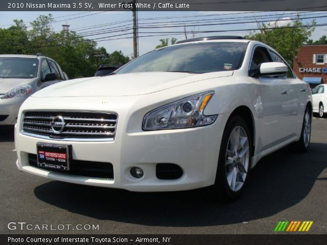 winter frost white 2010 nissan maxima 3 5 sv caffe. Black Bedroom Furniture Sets. Home Design Ideas