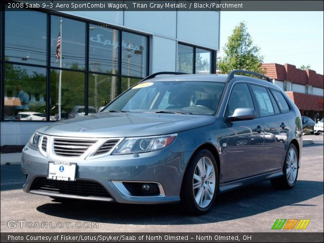 titan gray metallic 2008 saab 9 3 aero sportcombi wagon. Black Bedroom Furniture Sets. Home Design Ideas