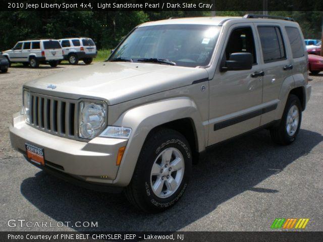 Light Sandstone Pearl 2010 Jeep Liberty Sport 4x4 Dark Slate Gray Interior
