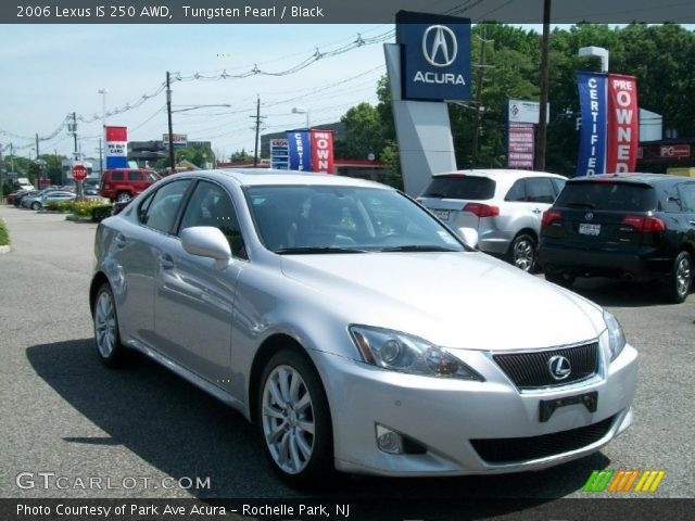 tungsten pearl 2006 lexus is 250 awd black interior vehicle archive 50230884. Black Bedroom Furniture Sets. Home Design Ideas