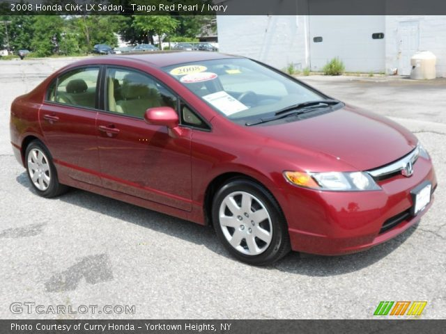 2008 Honda Civic LX Sedan in Tango Red Pearl. Click to see large photo ...