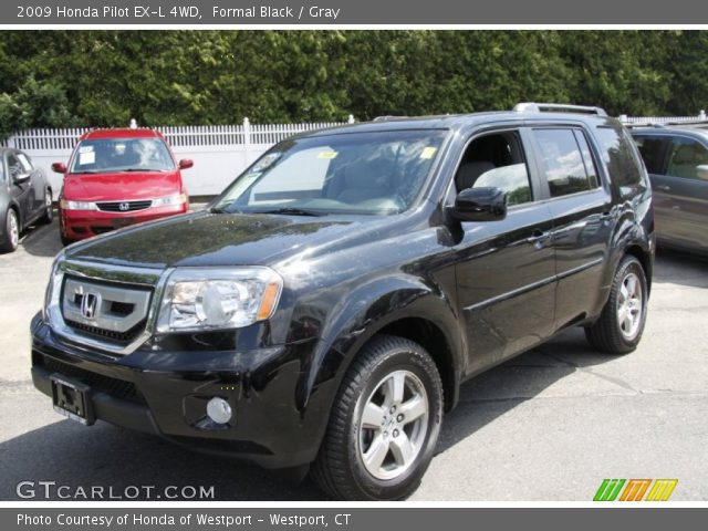 Formal Black 2009 Honda Pilot Ex L 4wd Gray Interior Vehicle Archive 50268063