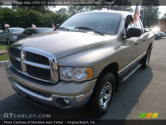 light almond pearl 2002 dodge ram 1500 slt quad cab 4x4 taupe interior. Black Bedroom Furniture Sets. Home Design Ideas