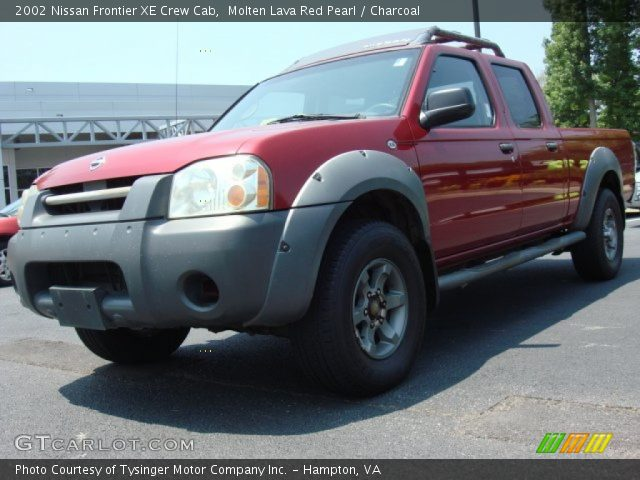 Molten Lava Red Pearl 2002 Nissan Frontier Xe Crew Cab Charcoal Interior