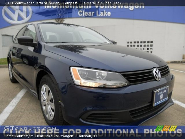 2011 Volkswagen Jetta SE Sedan in Tempest Blue Metallic