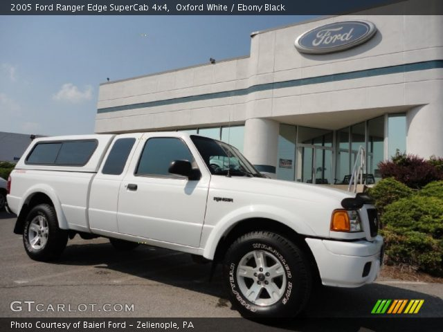 oxford white 2005 ford ranger edge supercab 4x4 ebony black interior. Black Bedroom Furniture Sets. Home Design Ideas