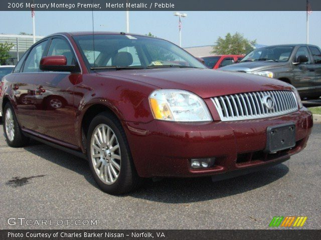 merlot metallic 2006 mercury montego premier pebble. Black Bedroom Furniture Sets. Home Design Ideas