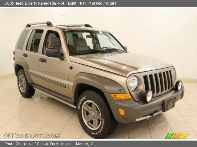 2005 Jeep Liberty Renegade 4x4 in Light Khaki Metallic