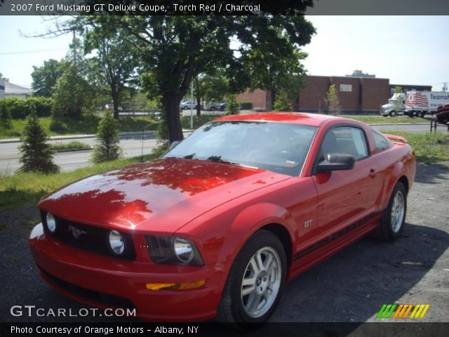 torch red 2007 ford mustang gt deluxe coupe charcoal interior vehicle. Black Bedroom Furniture Sets. Home Design Ideas